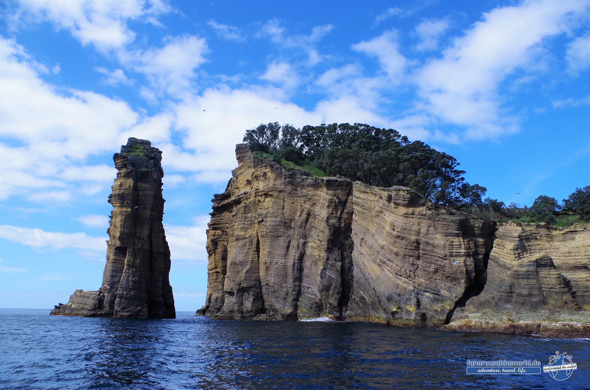 Auf der Naturschutzinsel Ilheu da Vila vor der Südküste Sao Miguels brüten über das Jahr verschiedene lokale Vogelarten