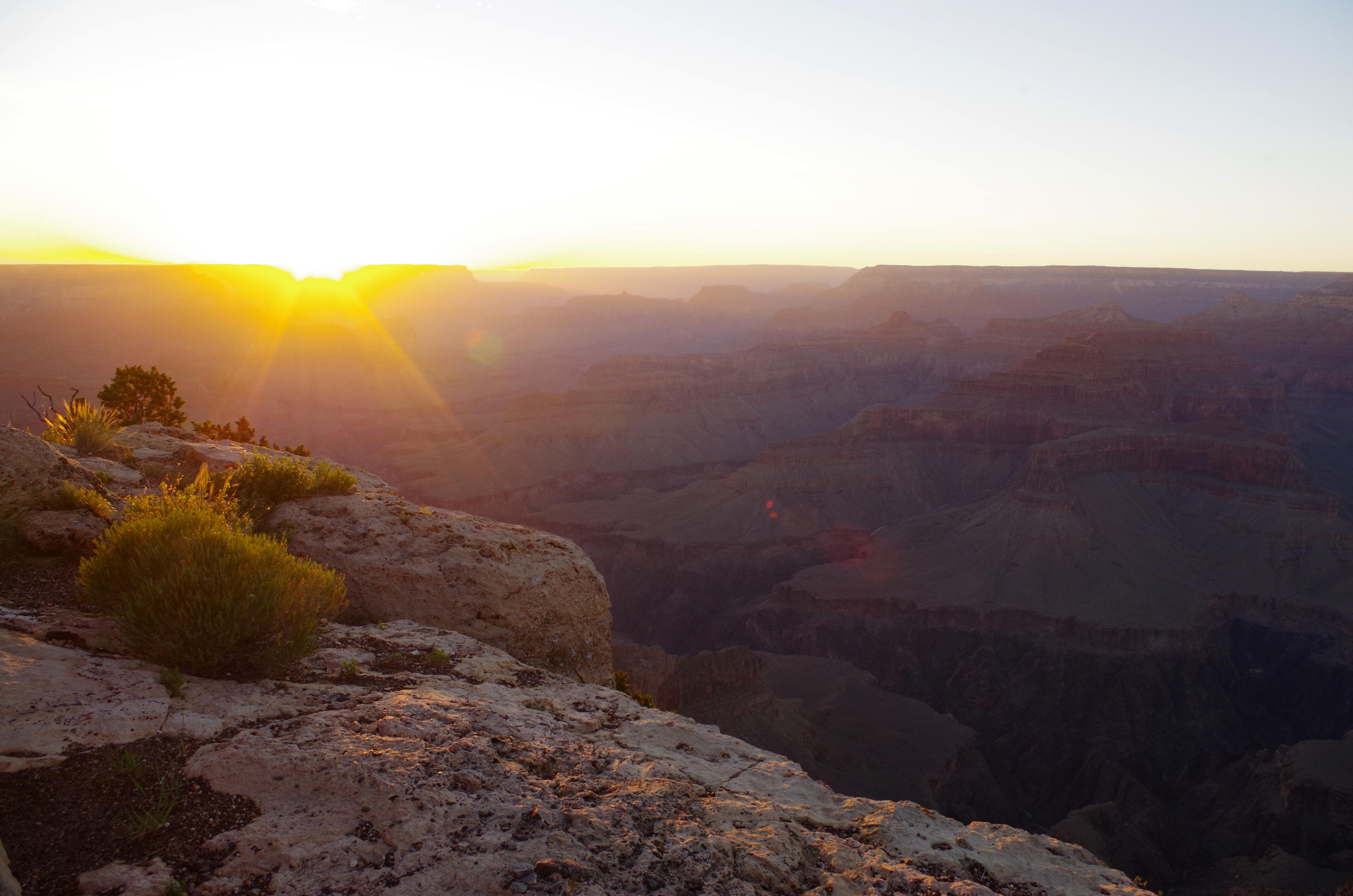 Den Sonnenuntergang am Grand Canyon solltet ihr auf keinen Fall verpassen!