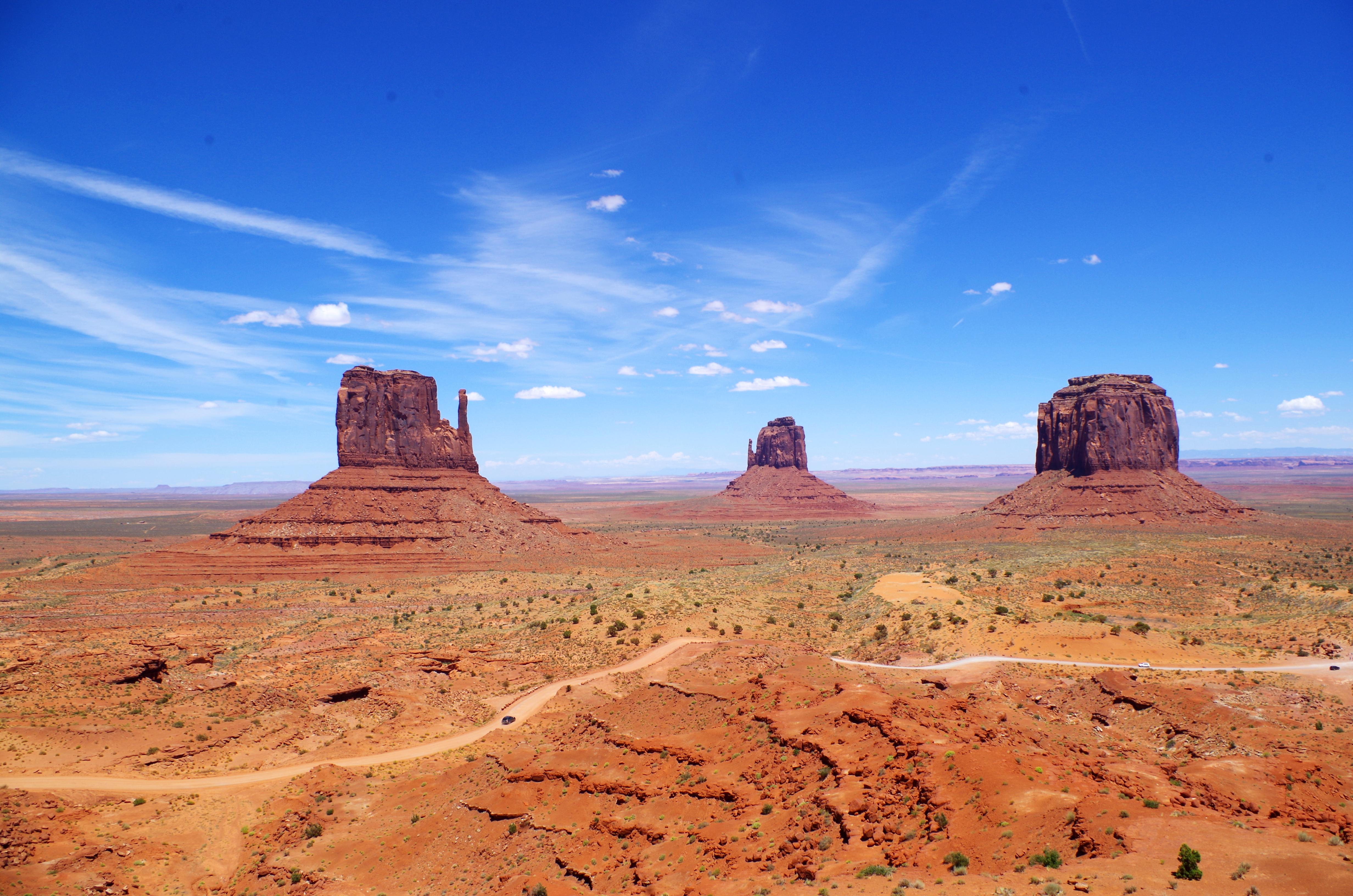 Dieser tolle Blick eröffnet sich Euch direkt vom Visitor Center am Monument Valley