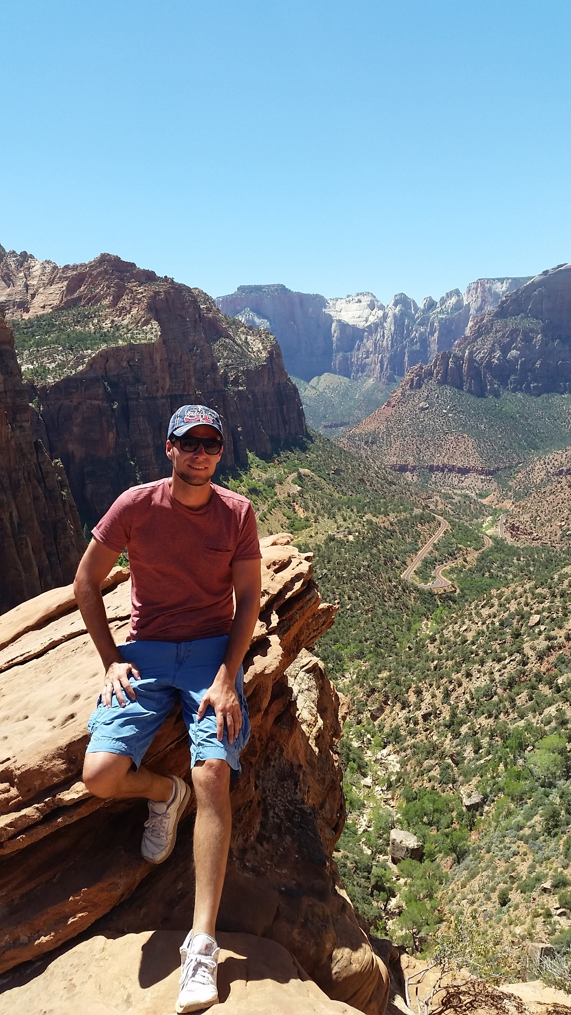 Perfekter Fotopunkt im Zion Nationalpark