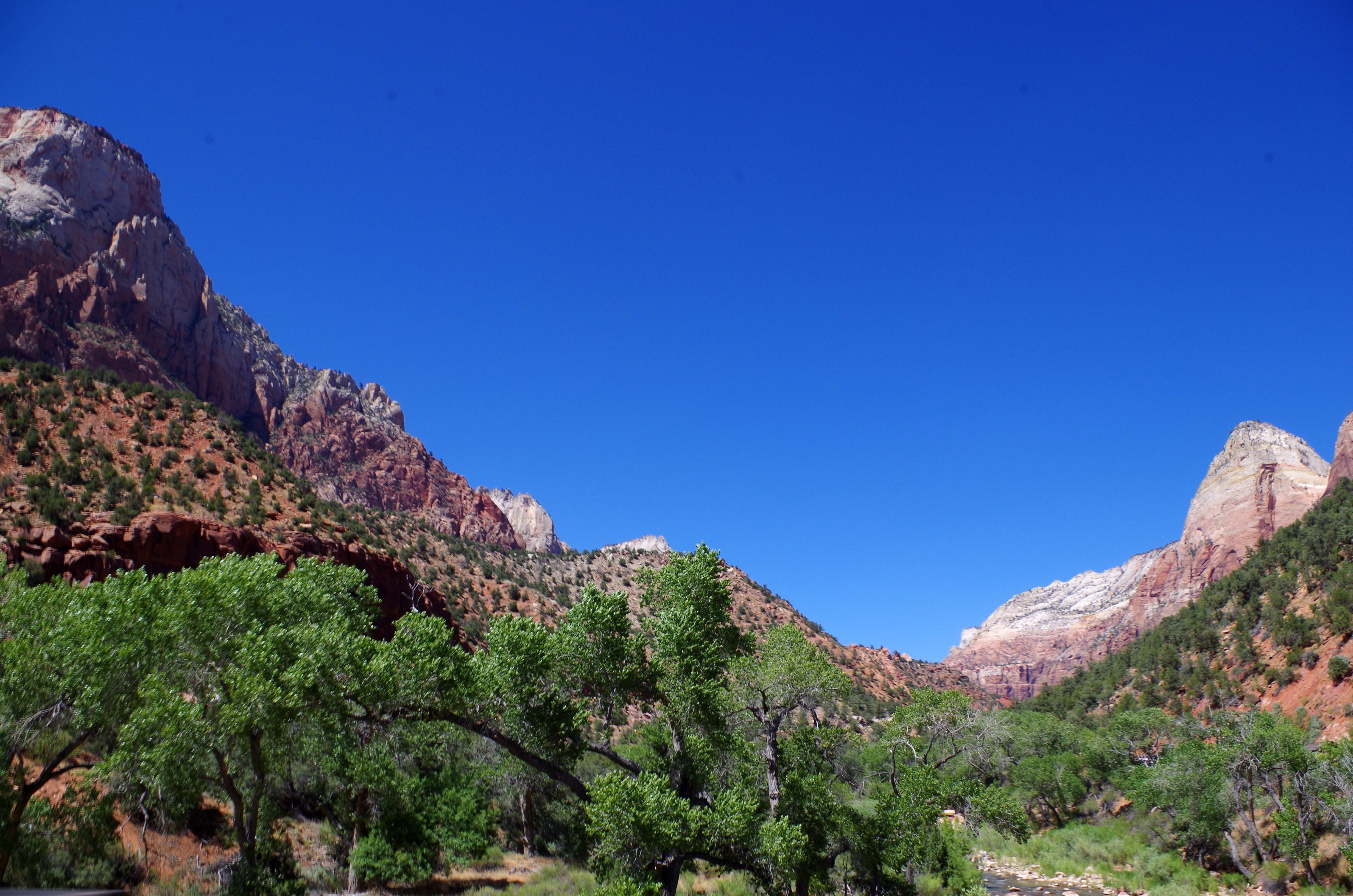 Einzigartige Bergformationen im Zion Nationalpark