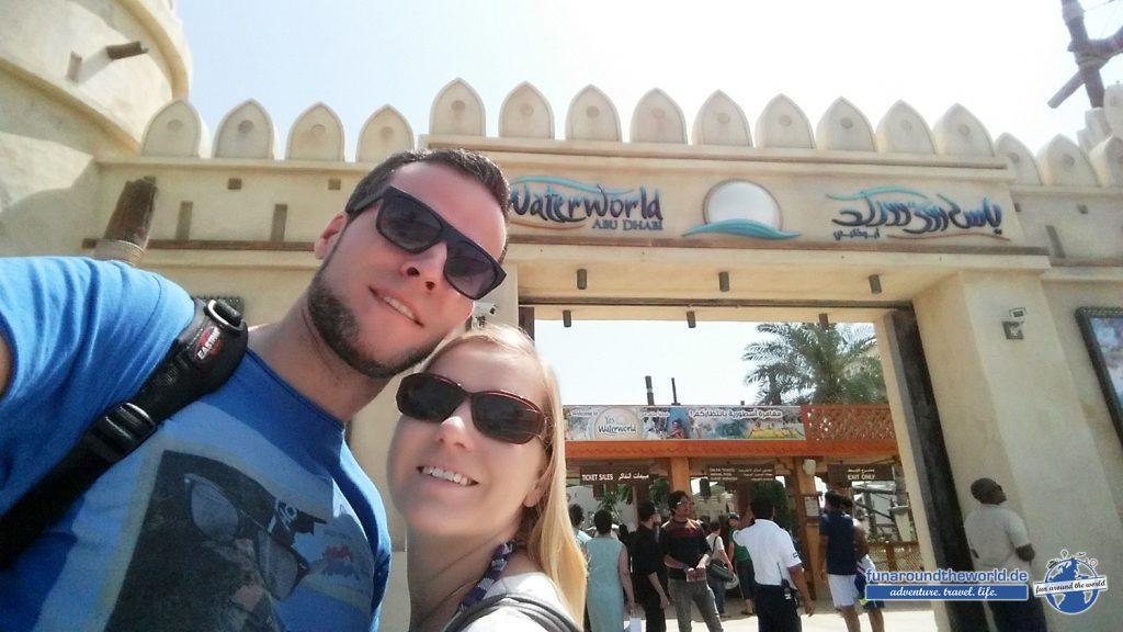 Eingang zur Yas Waterworld, Abu Dhabi