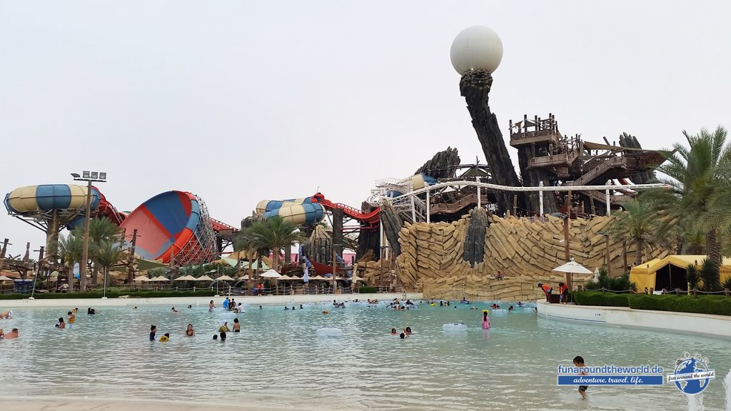 Wellenbad im Yas Waterworld Park in Abu Dhabi