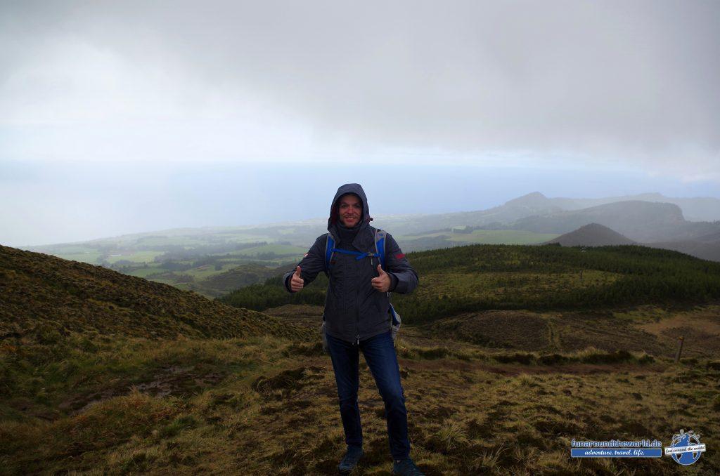 Wanderung bei wechselhaftem Wetter auf Sao Miguel