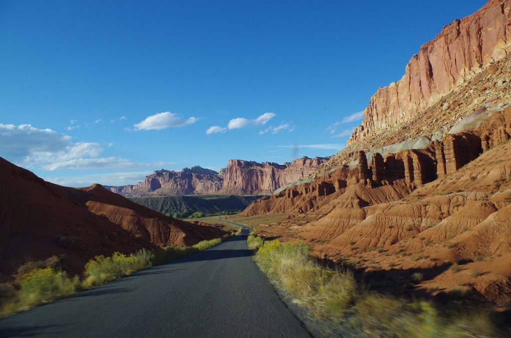 Capitol Reef Nationalpark Scenic Drive in Utah