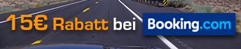 Sichere Dir satte 15€ Rabatt und spare bei deiner nächsten Buchung einer Unterkunft auf Booking.com!