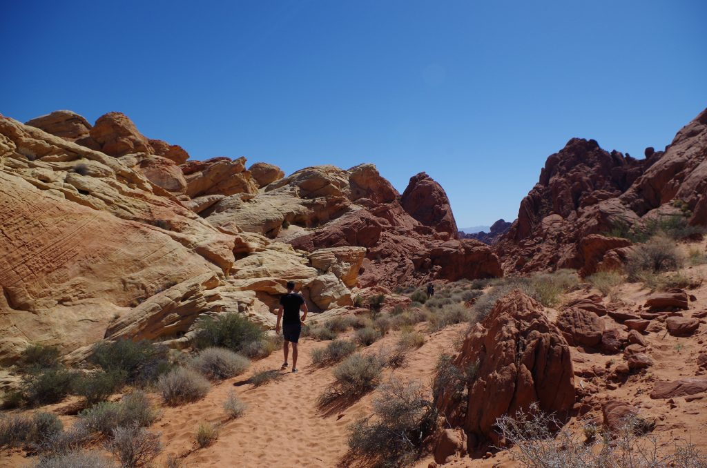 Trail im Valley of Fire State Park