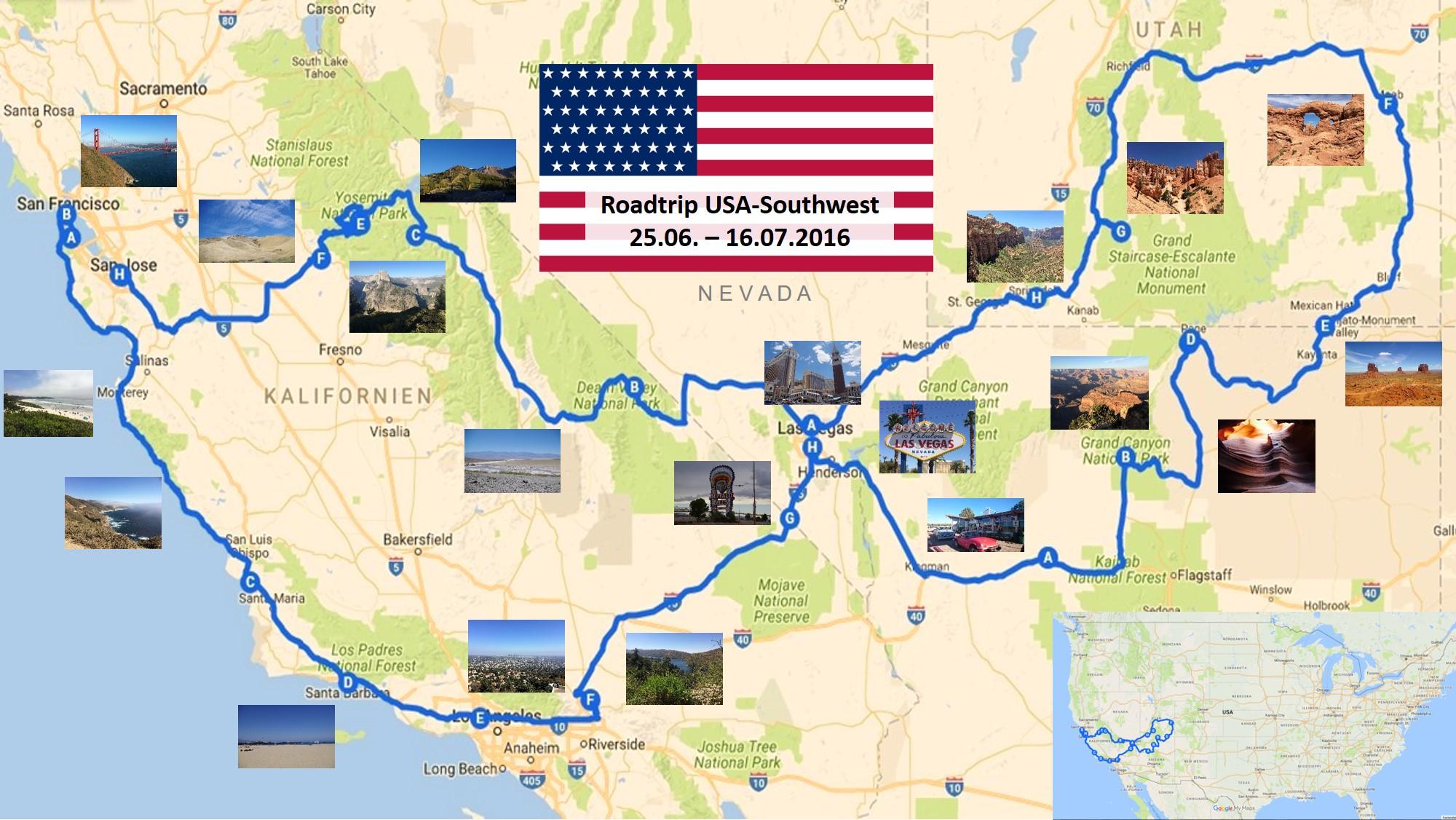 Karte Usa Westen.Die 9 Schönsten Nationalparks Und Naturgebiete Im Südwesten Der Usa